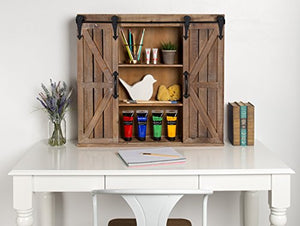 Storage Cabinet with Two Sliding Barn Doors