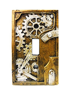 Steampunk Light Switch Plate Cover
