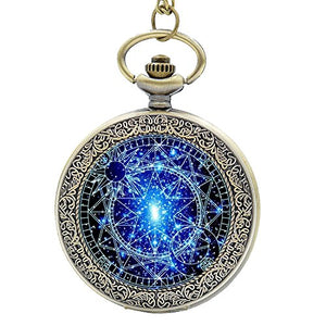 Steampunk Blue Magic Round Quartz Watch