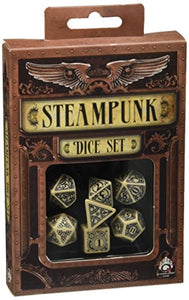 Steampunk Dice Beige/Black (7 Stk.) Board Game
