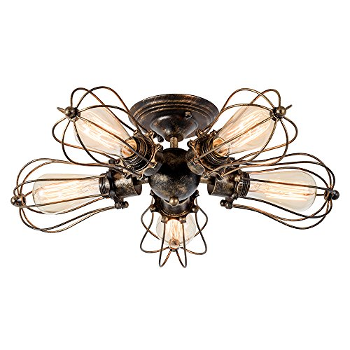 Industrial Semi-Flush Mount Ceiling Light
