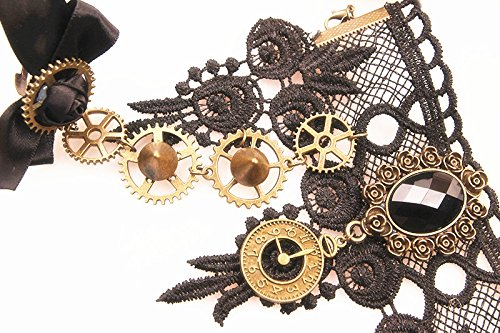 Steampunk Gear Lace Slave Wristband