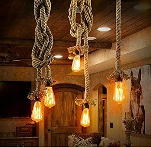 Thick Hemp Rope Industrial Ceiling Light Pendant