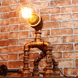 Dog Figure Steampunk Lampstand
