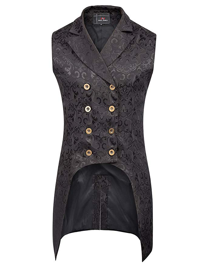 Steampunk Double Breasted Vest Brocade Waistcoat