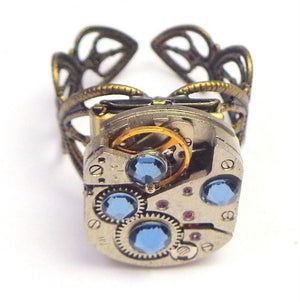 Steampunk Locket Ring -Edwardian Fantasy