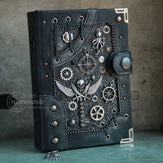 "Steampunk notebook / Sailor journal ""Pirate logbook"""