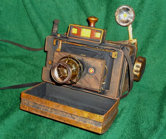 Steampunk Dieselpunk Custom Made 1800's Style Camera