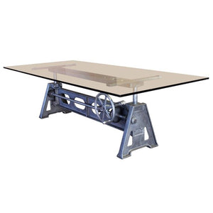 Industrial Cast Iron Height Adjustable Table Base
