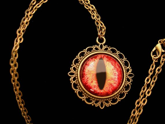 Steampunk Gothic UV Reactive GLOW Dream Pendant