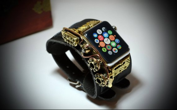 Steampunk bangle for iWatch