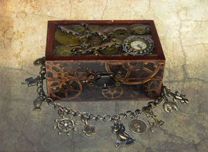 Steampunk treasure chest - jewellery box