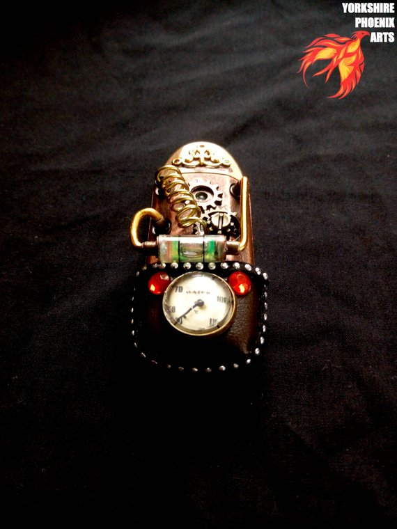 Steampunk USB SD digital card reader
