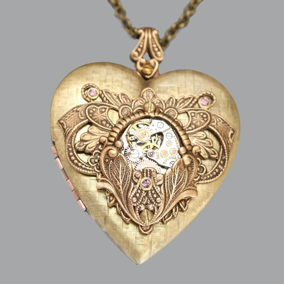 Steampunk Heart Locket