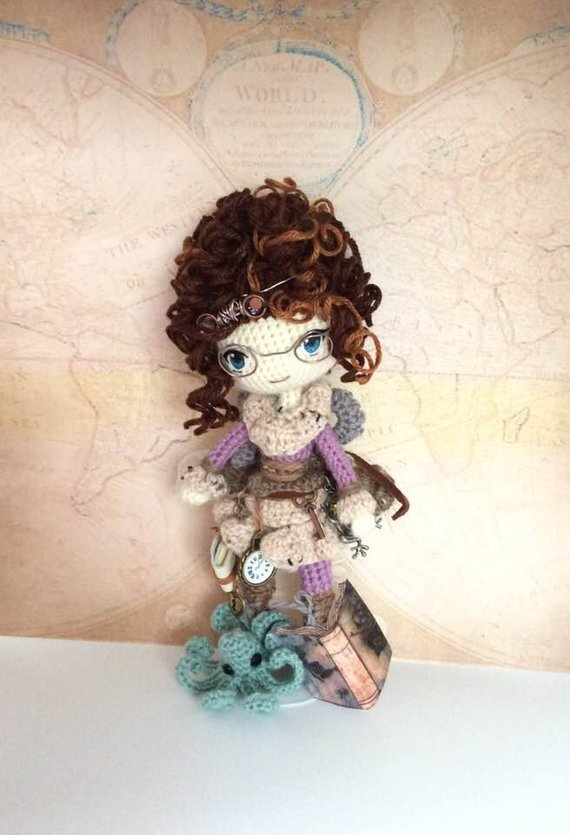 Larkspur, Steampunk, Fairy, Crochet Pattern