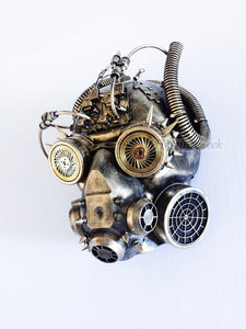 Distressed Gold Steampunk Respirator Gas Mask