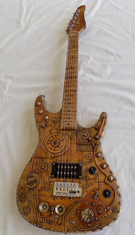 Steampunk electric guitar