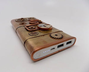 Steampunk portable charger