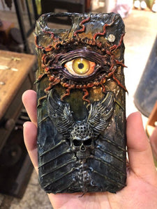 Steam Punk Style Skull And Eye Creepy Phone Case