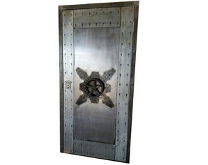 Custom Vintage Industrial Faux Vault Door