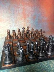 Steampunk Fantasy Chess Set - Hand Painted