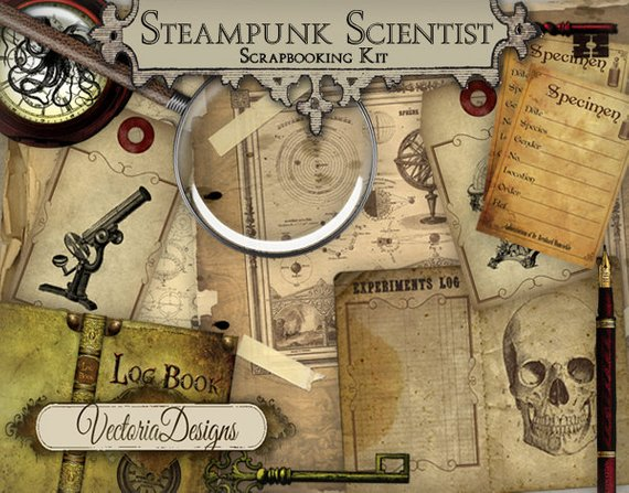 Steampunk Scientist Junk Journal