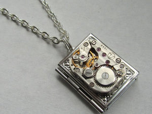 Steampunk book locket