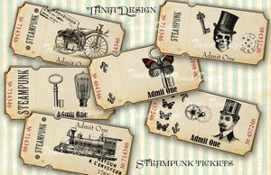 Steampunk tickets - 12 tickets
