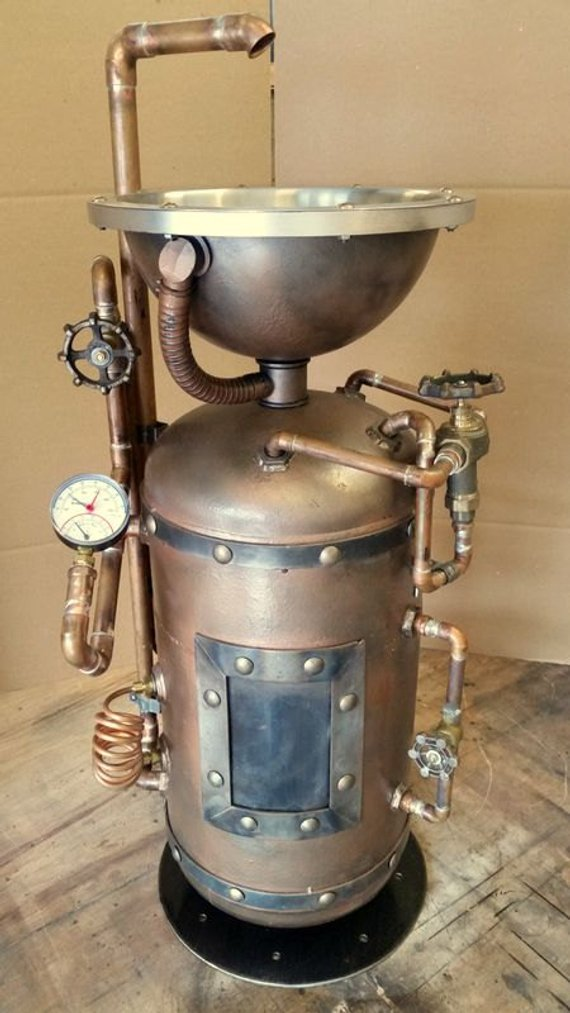 Steampunk Industrial Pedestal Sink