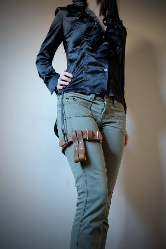 Leather Thigh Belt for Men and Women