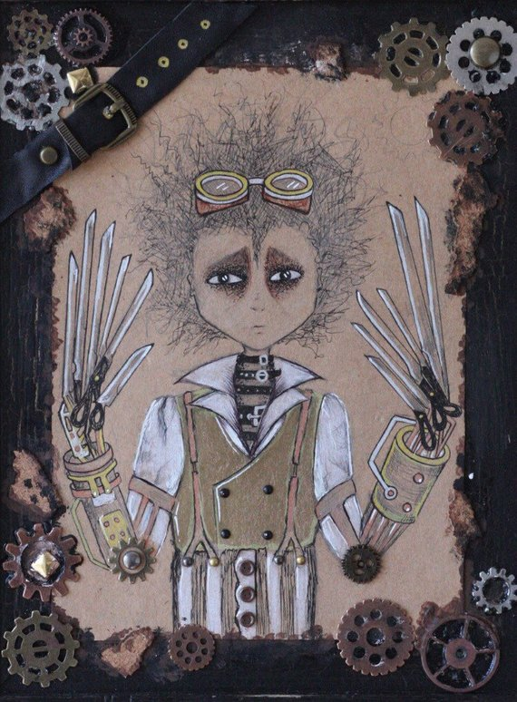 Steampunk Edward Scissorhands