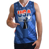 USA DRINKING TEAM BASKETBALL JERSEY W/ BEER HOLDER
