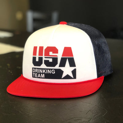 USA Drinking Team Logo Foam Trucker Hat