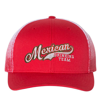 Mexican Drinking Team Logo Color Fading Mesh Trucker Hat