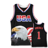 Black America #1 Basketball Jersey w/ Eagle
