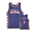 America #1 Basketball Jersey (Red, White & Blue)