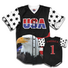 Black America #1 Baseball Jersey w/ Eagle
