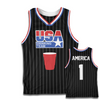 USA Drinking Team Basketball Jersey (Black)