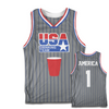 USA Drinking Team Basketball Jersey (Grey)