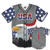 Grey America #1 Baseball Jersey w/ Eagle