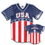 America # 1 Baseball Jersey (Red, White & Blue)