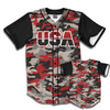 USA Baseball Jersey Camo (Red)