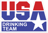 USA Drinking Team Sticker