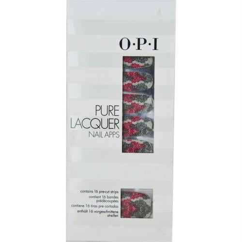 Opi Pure Lacquer Nail Apps--pink-silver Lace--16 Pre-cut Strips By Opi