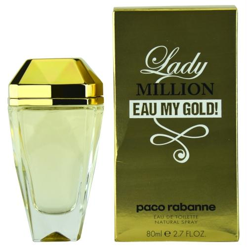 Paco Rabanne Lady Million Eau My Gold! By Paco Rabanne Edt Spray 2.7 Oz