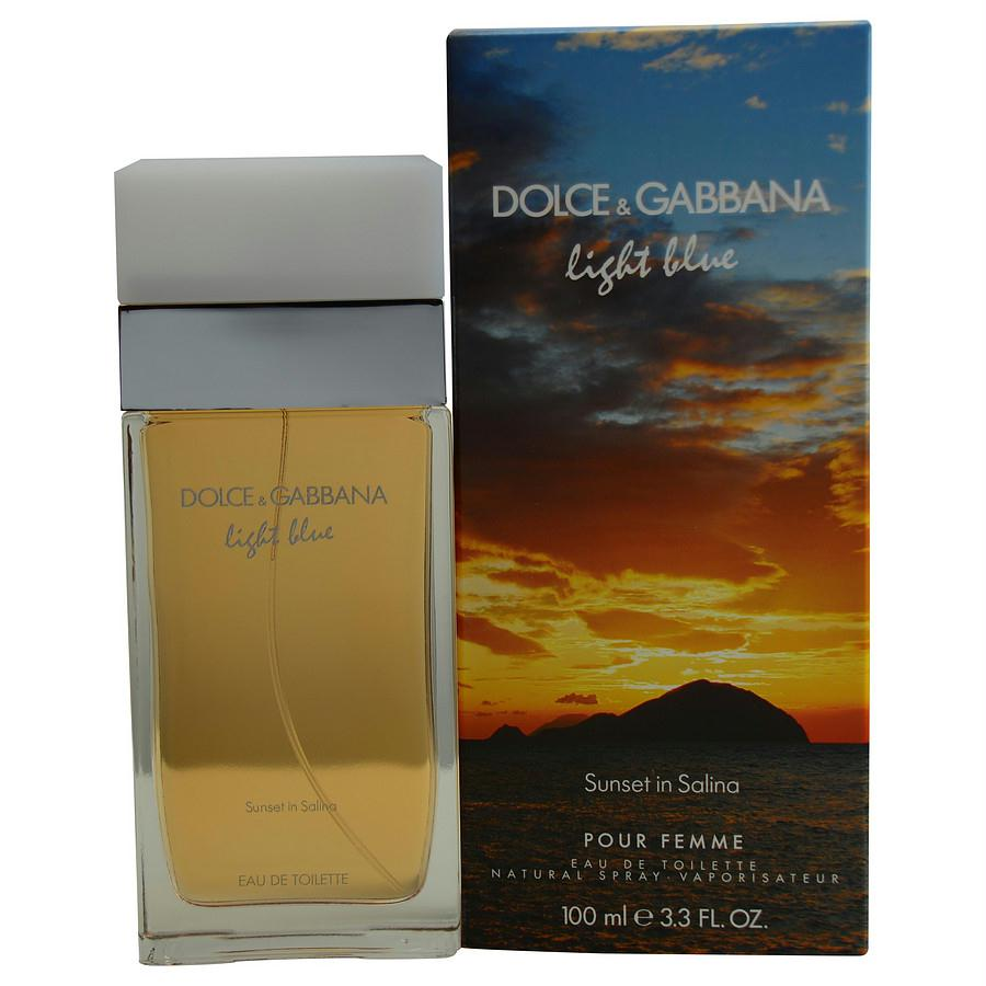 D & G Light Blue Sunset In Salina By Dolce & Gabbana Edt Spray 3.3 Oz (limited Edition)