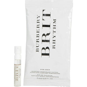 Burberry Brit Rhythm By Burberry Edt Spray Vial With Tattoo