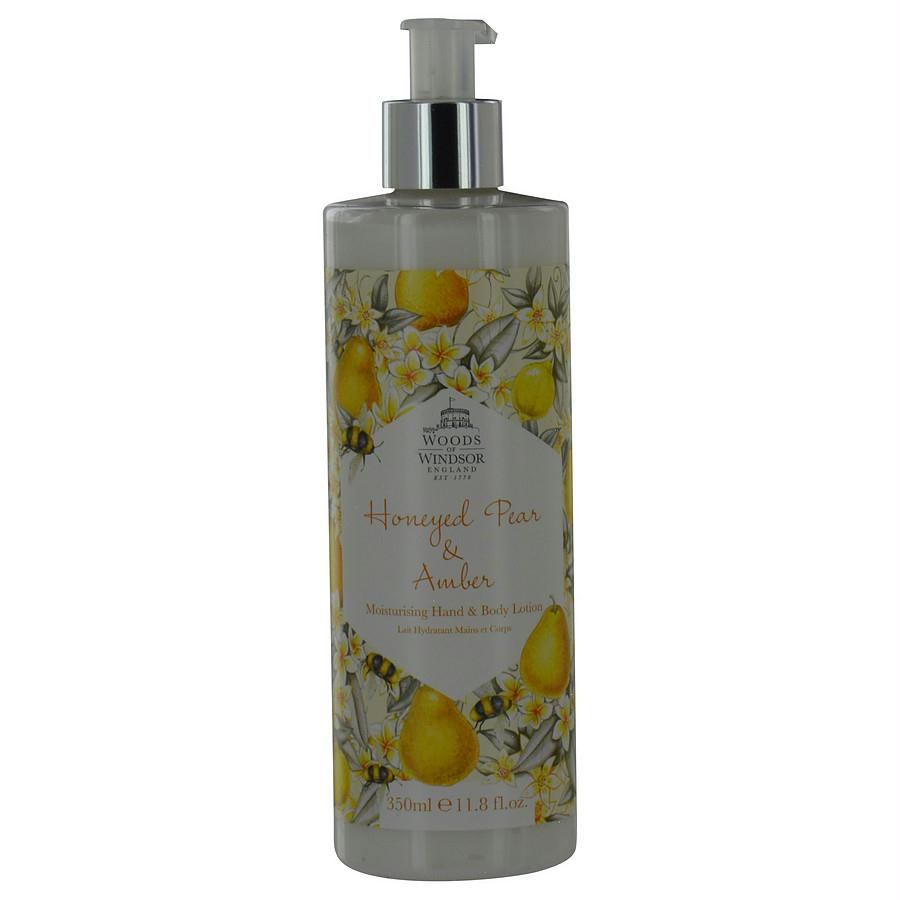Woods Of Windsor Honeyed Pear & Amber By Woods Of Windsor Moisturizing Hand & Body Lotion 11.8 Oz
