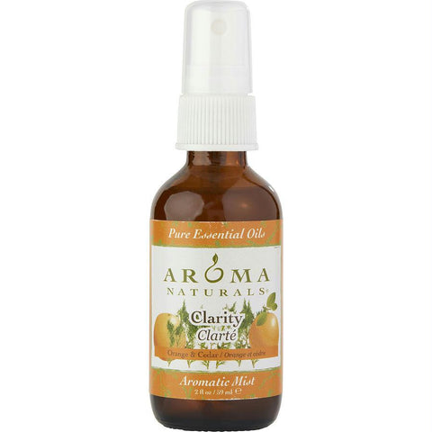 Clarity Aromatherapy Aromatic Mist Spray 2 Oz.  The Essential Oil Of Orange And Cedar Is Rejuvinating And Reduces Anxiety. By Clarity Aromatherapy