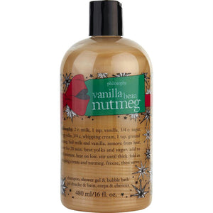 Vanilla Bean Nutmeg Shampoo, Shower Gel & Bubble Bath --480ml-16oz